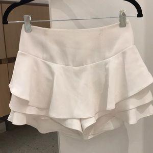 Zara Skirts - Zara White ruffle skort